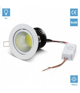 Empotrable 7W Blanco LED