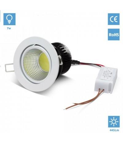 Empotrable 7W Blanco LED