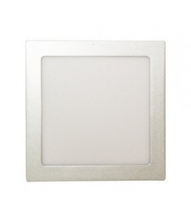 Downlight LED 18W 865 / 6500 K Cuadrado Plata