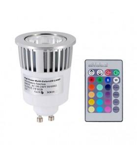 Lampara LED GU10 RGB 5W