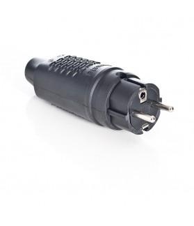 Clavija IP44 16A 250V Espiga 4,8mm Negra